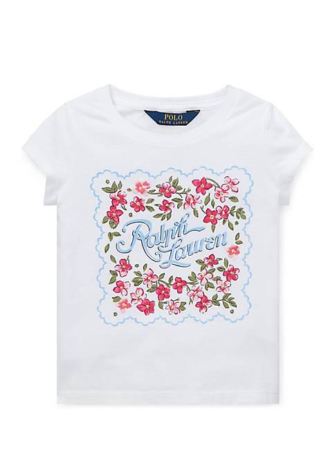 Ralph Lauren Childrenswear Girls 4-6x Cotton Jersey Graphic