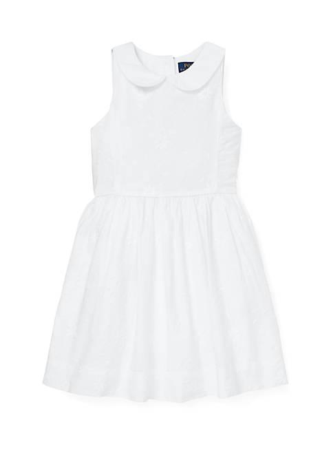Ralph Lauren Childrenswear Girls 4-6x Floral Embroidered Dress