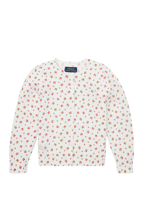 Ralph Lauren Childrenswear Baby Girls Floral Cotton Cardigan