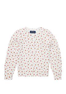 Ralph Lauren Childrenswear Baby Girls Floral Cotton Cardigan