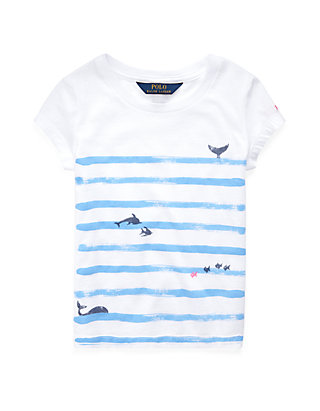 67abbfff60 Ralph Lauren Childrenswear Girls 4-6x Cotton Jersey Graphic Tee