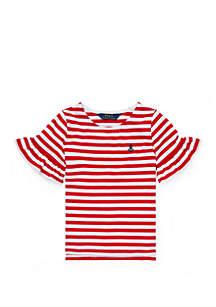 dfffd8e94 Crown   Ivy™ Toddler Girls Piping Tee · Ralph Lauren Childrenswear Girls  4-6x Ruffle-Sleeve Cotton Top