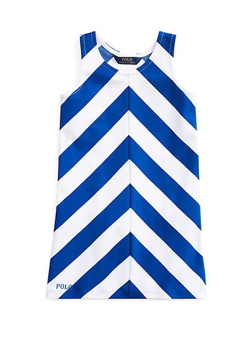 Ralph Lauren Childrenswear Girls 4-6x Chevron Stretch Ponte
