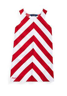 Ralph Lauren Childrenswear Girls 4-6x Chevron Stretch Ponte Dress