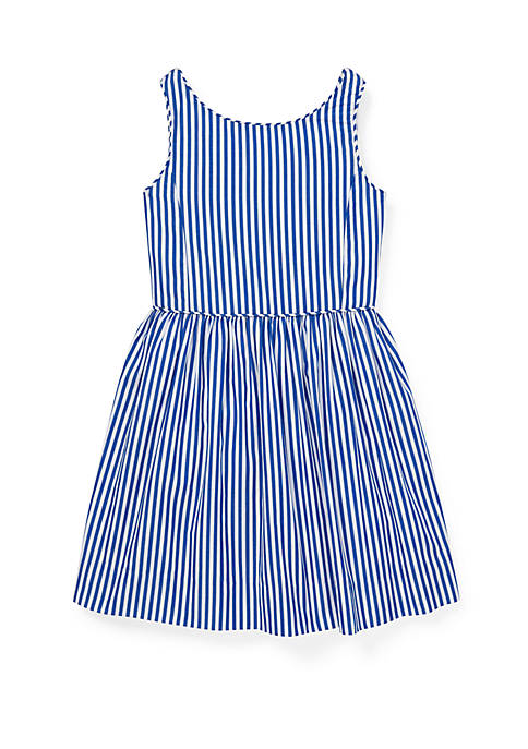 Ralph Lauren Childrenswear Girls 4-6x Bengal Stripe Cotton