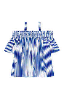 Ralph Lauren Childrenswear Girls 4-6x Cotton Off the Shoulder Top