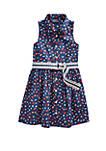 Girls 4-6x Cotton Poplin Dress