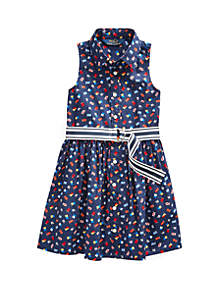 Ralph Lauren Childrenswear Girls 4-6x Cotton Poplin Dress