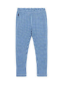 Ralph Lauren Childrenswear Girls 4-6x Gingham Stretch Leggings