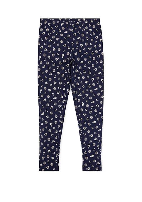 Ralph Lauren Childrenswear Girls 4-6x Anchor Stretch Cotton