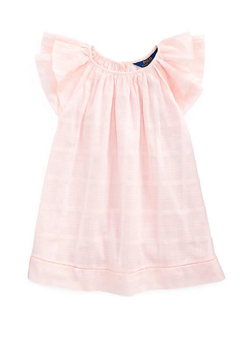 Ralph Lauren Childrenswear Girls 4-6x Cotton Flutter Sleeve