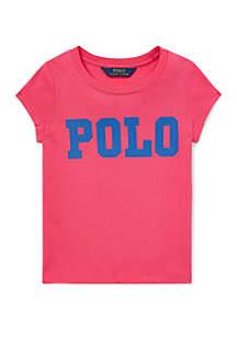 Ralph Lauren Childrenswear Girls 4-6x Cotton Jersey Graphic T-Shirt