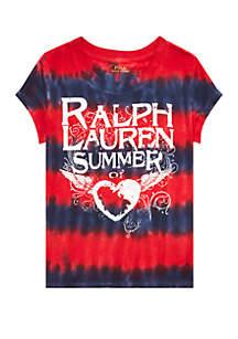 e02692866 ... Ralph Lauren Childrenswear Girls 4-6x Tie Dyed Cotton Jersey Tee