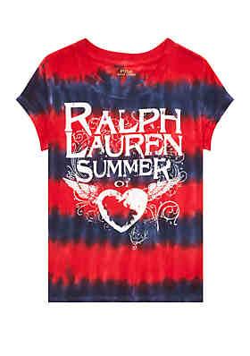 409b256f858 Ralph Lauren Childrenswear Girls 4-6x Tie Dyed Cotton Jersey Tee ...