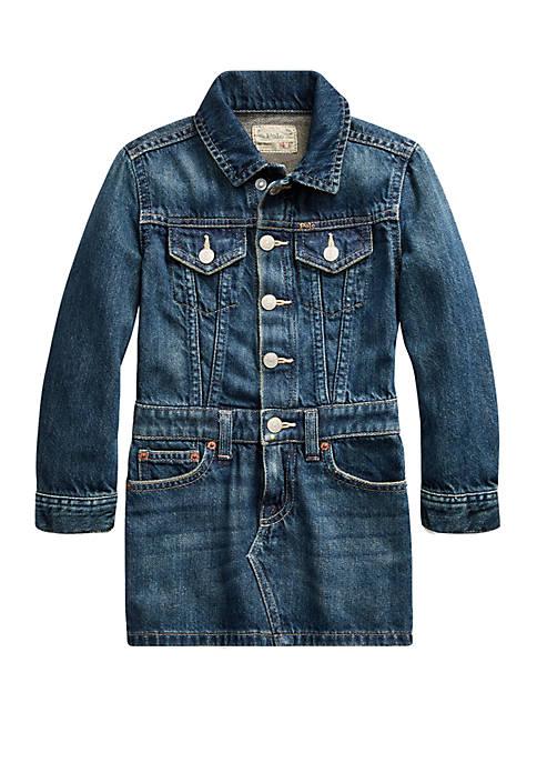 Ralph Lauren Childrenswear Girls 4-6x Cotton Denim Trucker