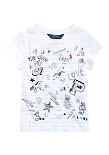 Ralph Lauren Childrenswear Girls 4-6x Cotton Jersey Graphic Tee