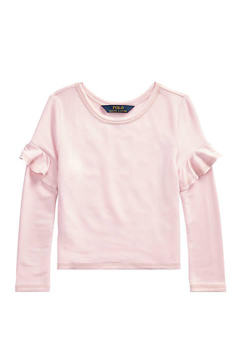 Ralph Lauren Childrenswear Girls 4-6x Ruffled-Trim French Terry