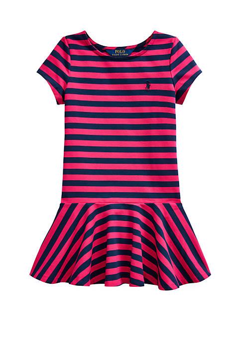 Ralph Lauren Childrenswear Girls 4-6x Striped Stretch Jersey
