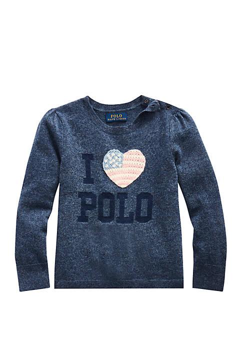 Ralph Lauren Childrenswear Girls 4-6 Sparkle Wool Blend