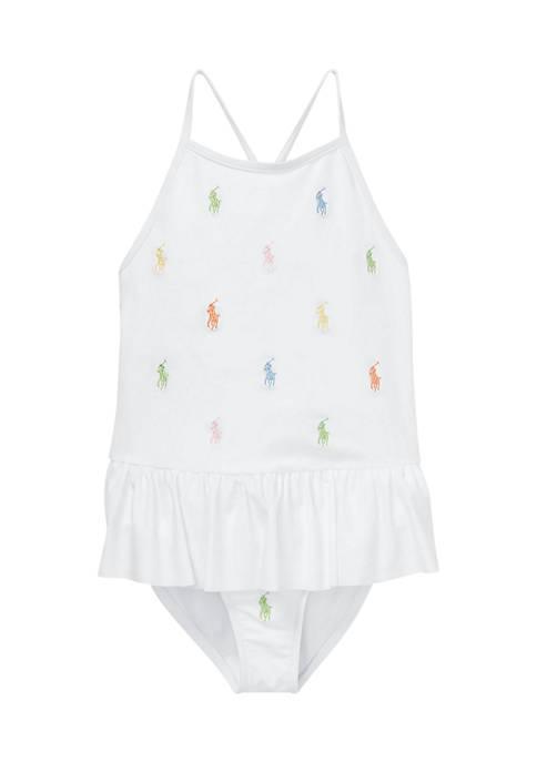Girls 4-6x Polo Pony One-Piece Swimsuit