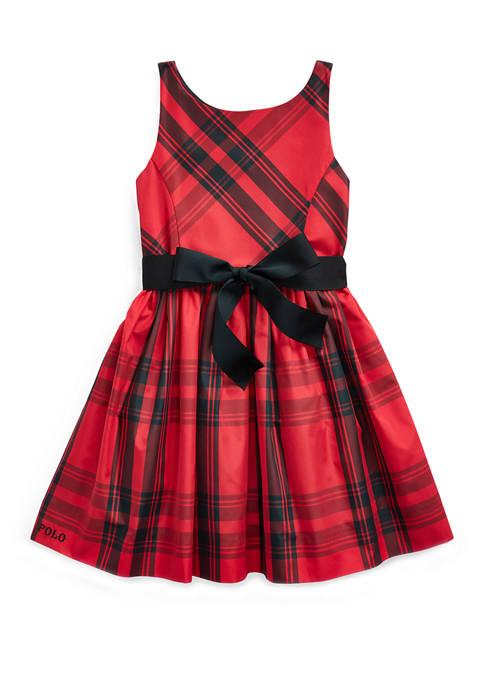 Ralph Lauren Childrenswear Girls 4-6x Plaid Taffeta Dress