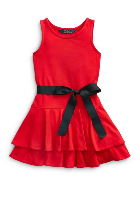 Ralph Lauren Childrenswear Girls 4-6x Tiered Stretch-Modal Dress