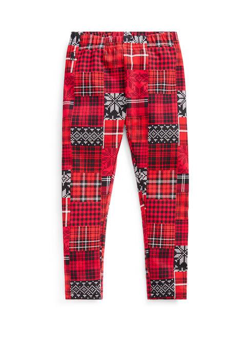 Ralph Lauren Childrenswear Girls 4-6x Patchwork Plaid Stretch