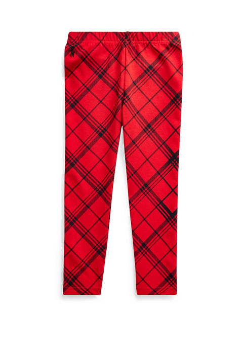 Ralph Lauren Childrenswear Girls 4-6x Plaid Stretch Jersey