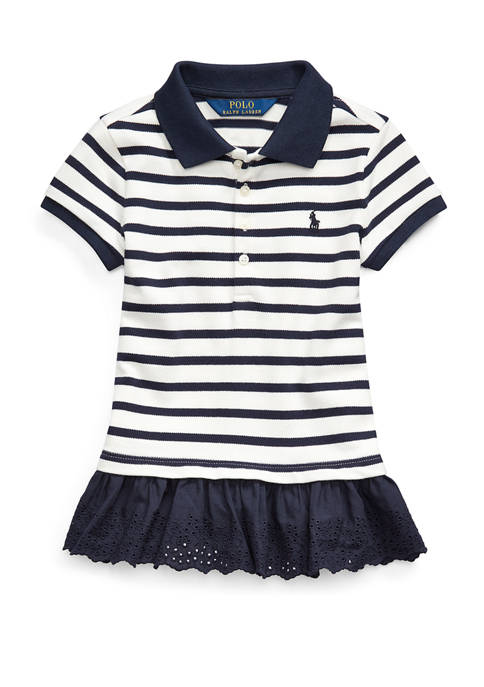 Girls 4-6x Eyelet-Hem Mesh Polo Shirt