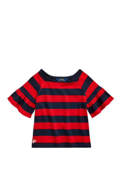 Ralph Lauren Childrenswear Girls 4-6x Ruffled Cotton Jersey
