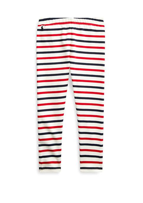 Ralph Lauren Childrenswear Girls 4-6 Striped Stretch Cotton