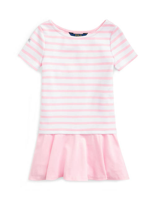 Girls 4-6x Striped Stretch Ponte Dress