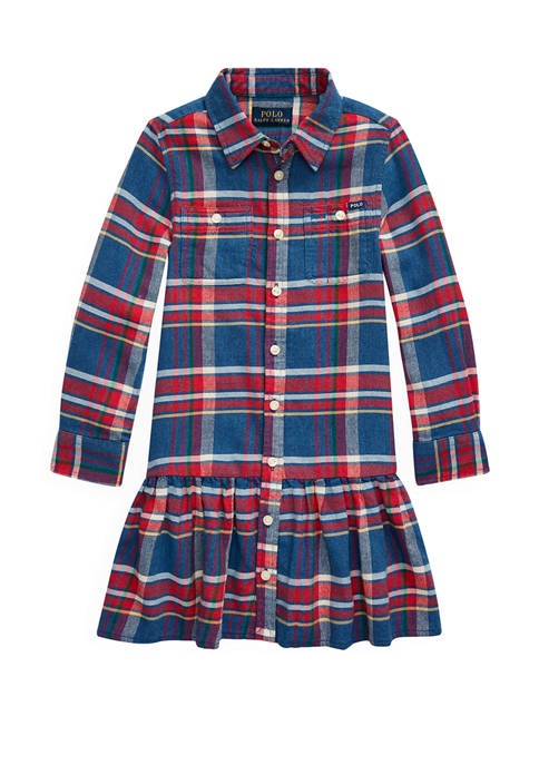Ralph Lauren Childrenswear Girls 4-6x Plaid Cotton Twill