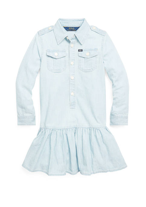 Ralph Lauren Childrenswear Girls 4-6x Cotton Chambray Dress