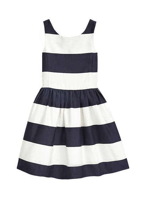 Ralph Lauren Childrenswear Girls 4-6x Striped Cotton Sateen