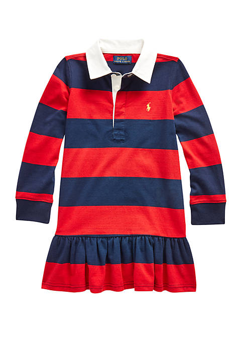 Ralph Lauren Childrenswear Girls 4-6x Striped Cotton Rugby