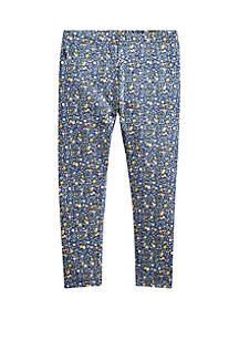 Ralph Lauren Childrenswear Girls 4-6x Floral Stretch Cotton Jersey Leggings