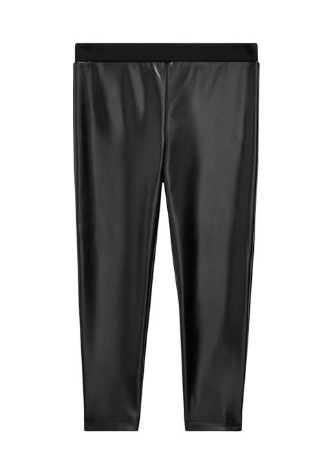 Ralph Lauren Childrenswear Girls 4-6x Vegan-Leather Legging