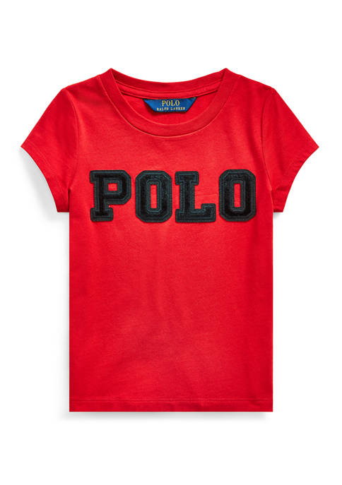 Ralph Lauren Childrenswear Girls 4-8 Cotton Jersey Logo