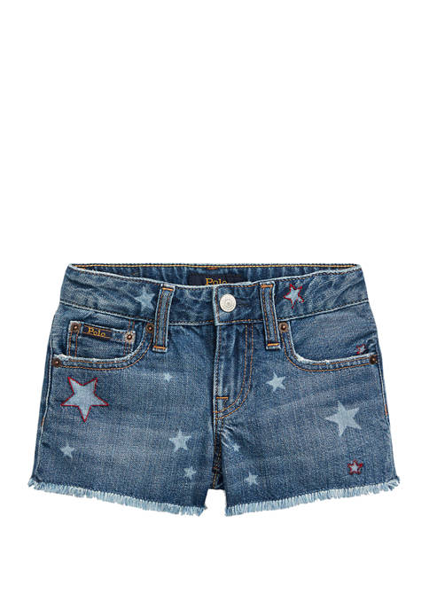 Ralph Lauren Childrenswear Girls 4-6x Star Cotton Denim