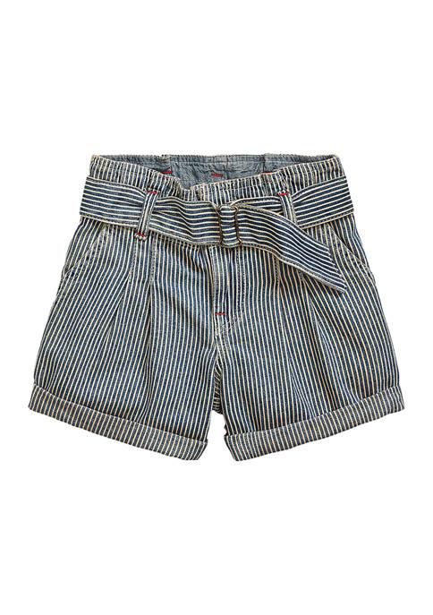 Ralph Lauren Childrenswear Girls 4-6x Belted Cotton Paper