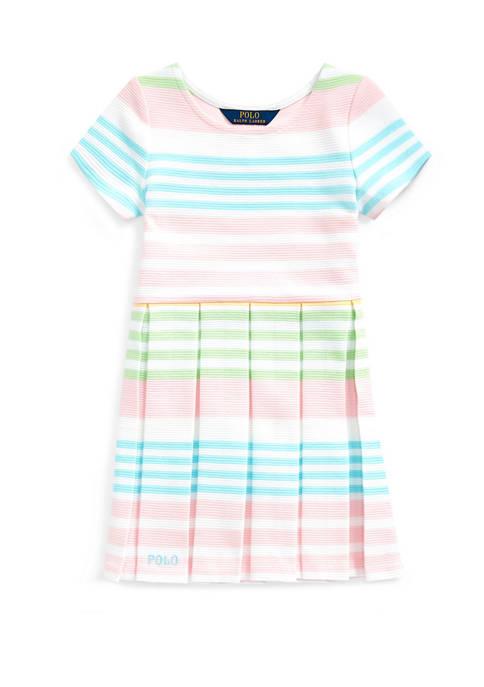 Girls 4-6x Striped Ottoman-Rib Dress