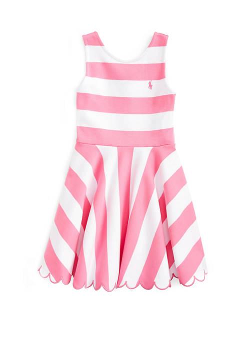 Ralph Lauren Childrenswear Girls 4-6x Ruffled Stretch Ponte