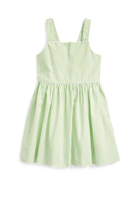 Ralph Lauren Childrenswear Girls 4-6x Cotton Seersucker Dress