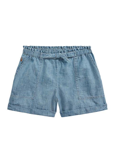 Ralph Lauren Childrenswear Girls 4-6x Cotton Chambray Camp