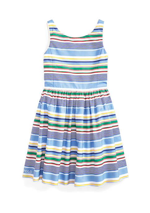 Ralph Lauren Childrenswear Girls 4-6x Striped Cotton Poplin