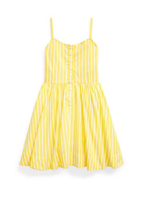 Ralph Lauren Childrenswear Girls 4-6x Striped Cotton Poplin