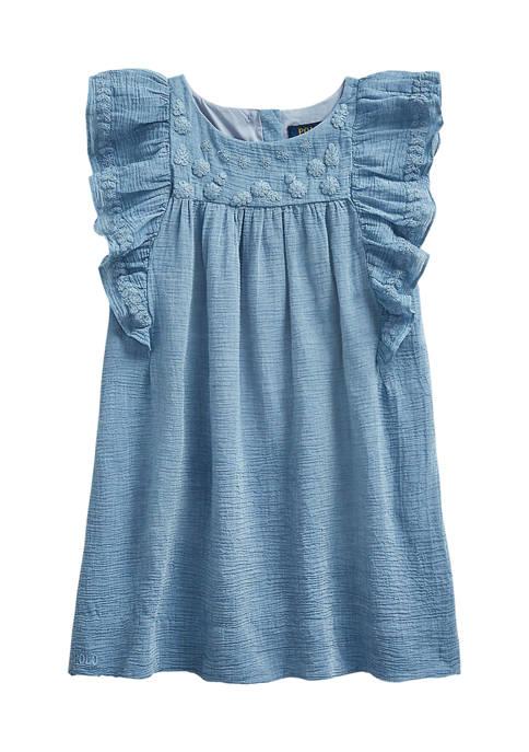 Ralph Lauren Childrenswear Girls 4-6x Embroidered Cotton-Blend
