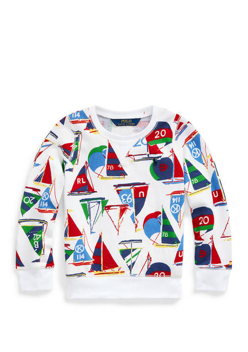 Ralph Lauren Childrenswear Girls 4-6x Sailboat Cotton Terry