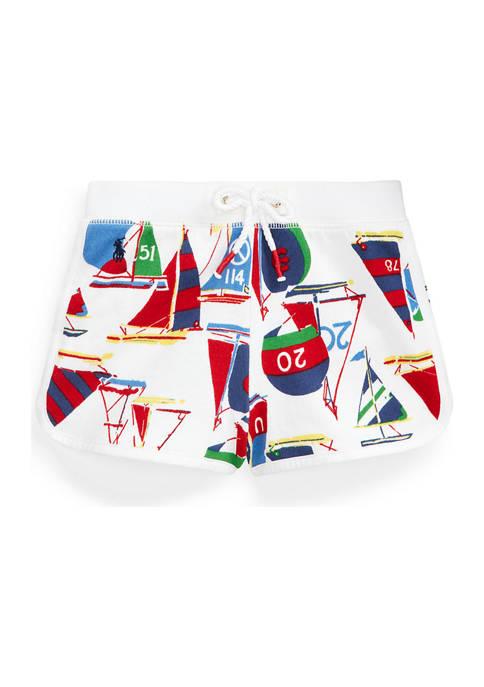 Ralph Lauren Childrenswear Girls 4-6x Sailboat-Print Cotton
